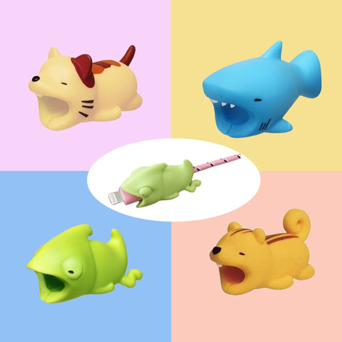 Cute Animals Usb Charger Phone Cable Organizer Bite Protector for iPhone Andriod USB Cable Charger
