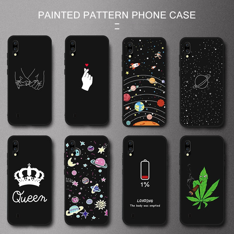 Cute Cartoon Stylish Phone Case For Samsung Galaxy S10 Plus S10e M10 M20 A8S A10 A20 A30 A40 A50 A70