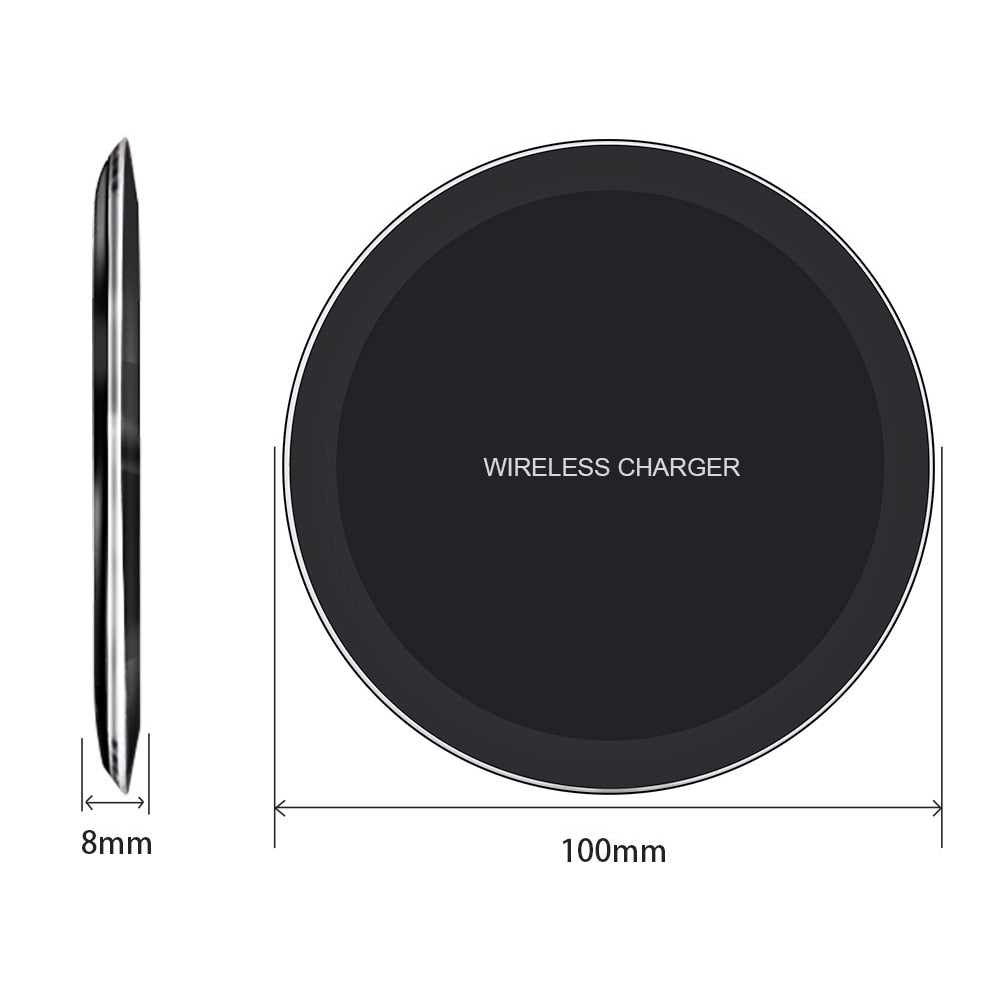 DCAE Wireless Charger for Samsung Galaxy S8 S9 Note 9 8 USB Qi Wireless Charger for iPhone XS Max