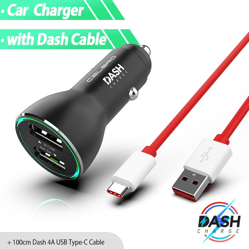 Dash Charge Metal Car Charger Dual USB for OnePlus 7 Pro 6T 6 5T 5 3T 3 Warp Charge Original One