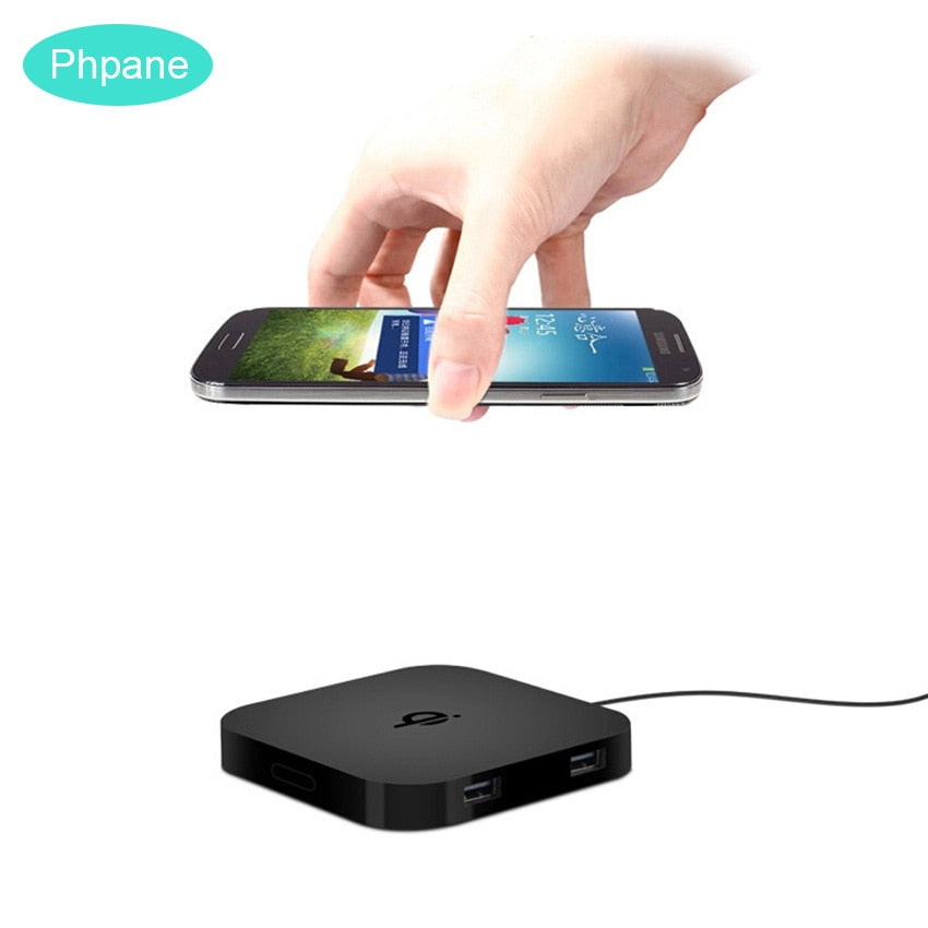 Double Dual Usb Qi Wireless Charger Pad Slim Portable Chargeur Induction Inductive Without Wired