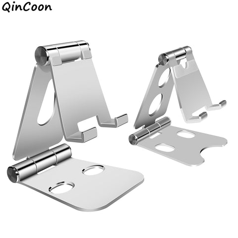 Dual Adjustable Aluminum Stand for Mobile Phone Tablet Multi-Angle Foldable Desk Holder