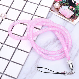 Etmakit Crystal Neck Necklace Strap Lanyard U Disk ID Work Card Mobile Cell Phone Chain Straps