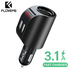 FLOVEME 3.1A USB Car Charger Mobile Phone Car Chargeur Charger USB Fast Quick Charging Car Charger