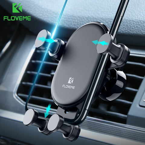 FLOVEME Gravity Car Phone Holder For iPhone X XS Max XR Air Vent Mount Car Holder For Samsung S9