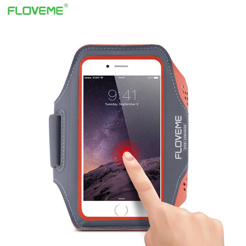 FLOVEME Running Sport Waterproof Armband For iPhone 7 6 6s Plus Case For Samsung 4.7 5.5 Inch