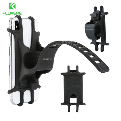 Universal Bike Motorcycle Mobile Phone Stand Holder Silicone Non-slip Buckle Pull Phone Mount