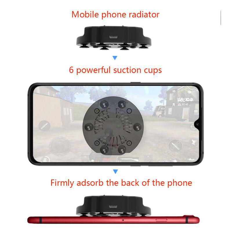 Foldable Mobile Phone Cooler Cooling Support Holder Bracket Fan Radiator for iPhone Samsung Huawei