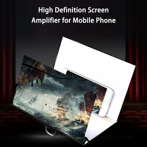 Foldable Phone Screen Magnifier Cellphone Projector Amplifier Mobile Bracket Desktop Holder