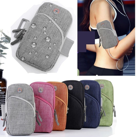6.5 inch Mobile Phone Arm Band Hand Holder Case Gym Outdoor Sport Running Pouch Armband Bag