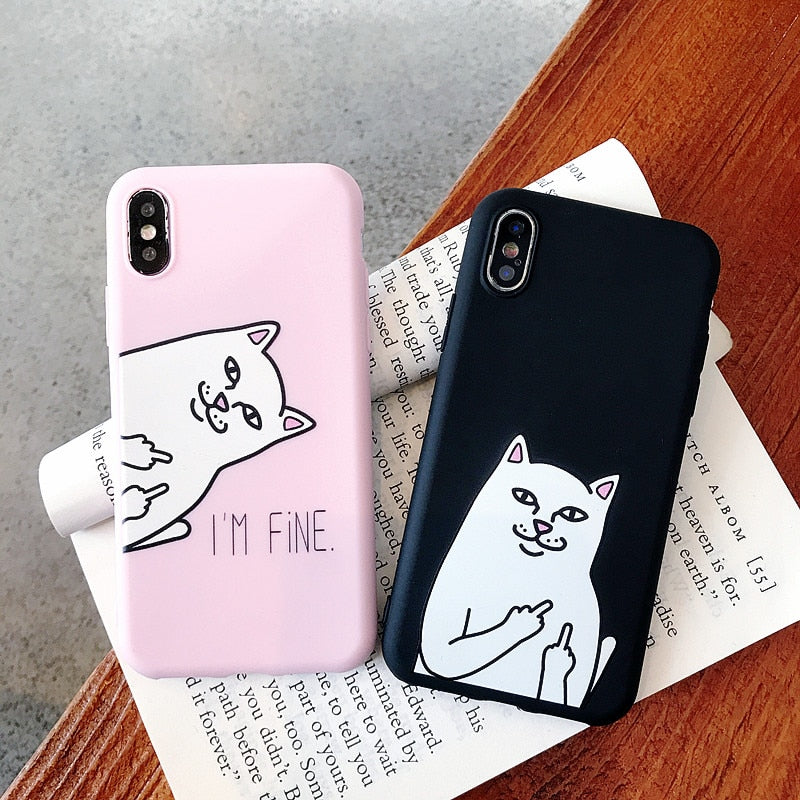 For Huawei P8 P9 P10 P20 Lite Plus P30 Pro 2017 P Smart 2019 Z Funny Cat Silicone Case For Huawei