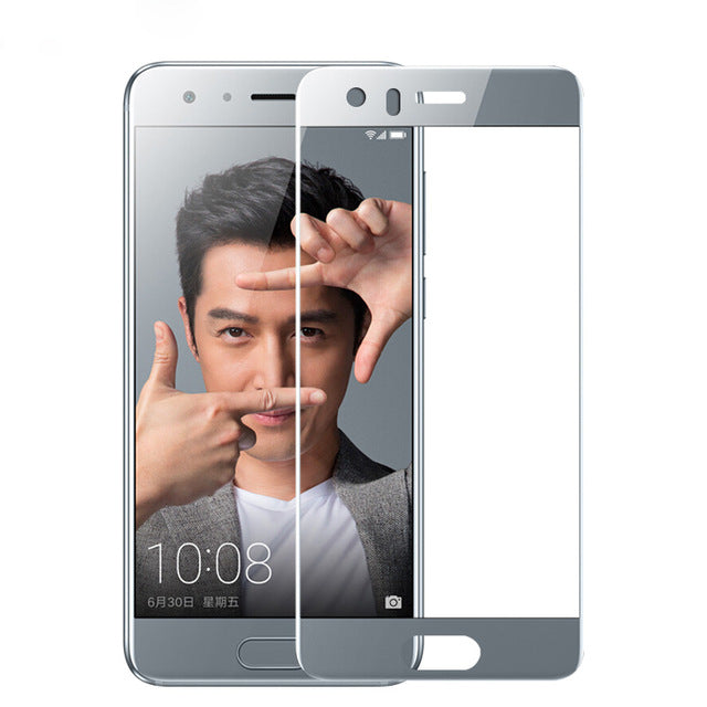 For Huawei honor 9 glass tempered for Huawei honor 9 screen protector full cover 2.5D gray for