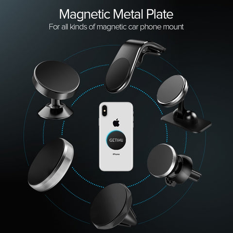 GETIHU 3pcs/lot Magnetic Metal Plate For Car Phone Holder Universal Iron Sheet Disk 3M Sticker Mount