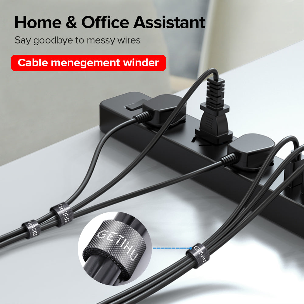 GETIHU Cable Organizer Wire Winder Clip HDMI Cable Management Earphone Holder Mouse Cord Protector