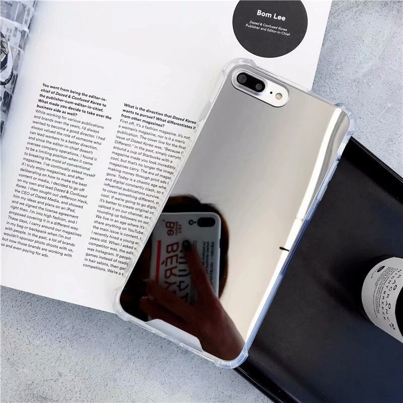 Gasbag Drop Proof Mirror Case for iphone XR 7 8 XS MAX XSmax X 10 6 6S Plus 7Plus 8Plus Airbag