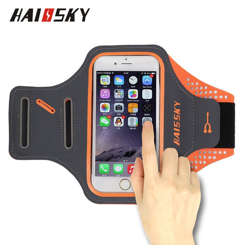 HAISSKY Running Sport Waterproof Armband For iPhone X 8 7 6 6s Plus Touch Screen Cover For Samsung