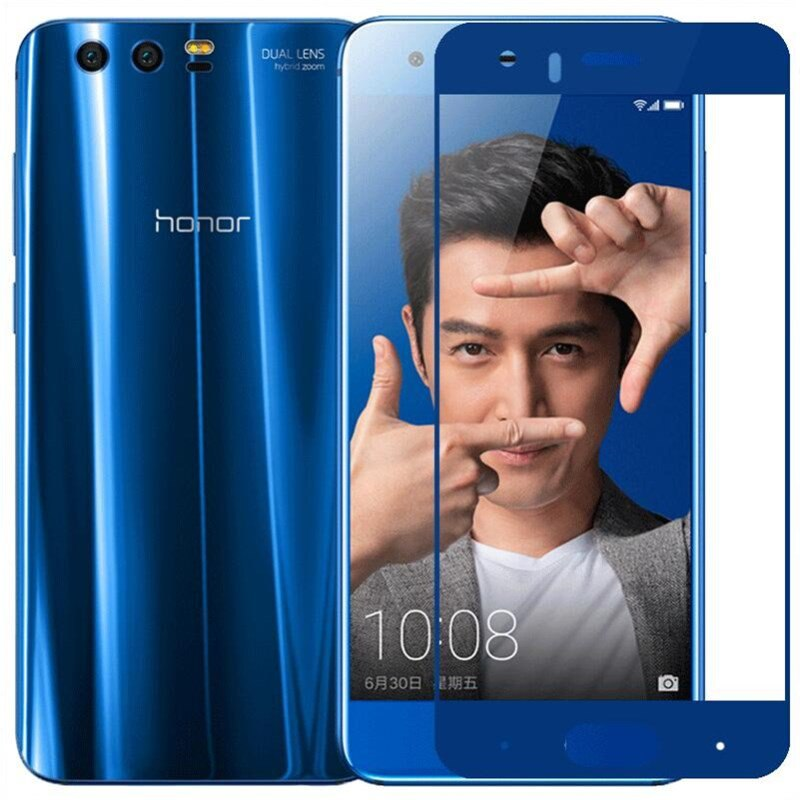 Honor 9 glass tempered Huawei honor 9 screen protector full cover blue protective film RONICAN
