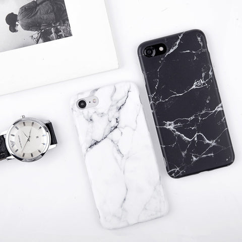 Imd Marble Stone Gel Case for Apple iPhone 7 6s 6 8 Plus 5 5s SE X 10 XR XS Max Cases Black White