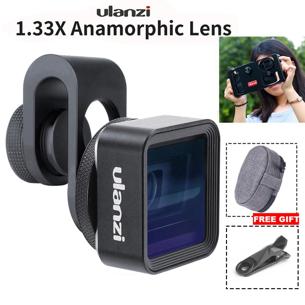 Ulanzi Anamorphic Lens For Mobile Phone 1.33X Wide Screen Video Widescreen Slr Movie Mobile
