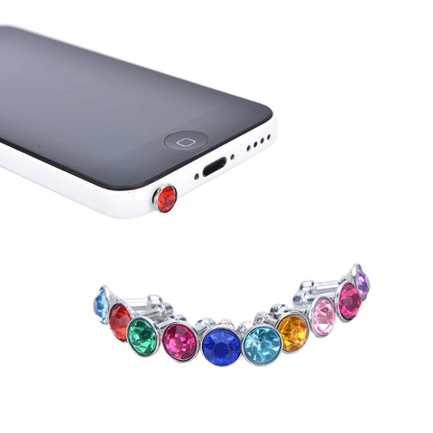 JINHF 10pcs Bling Universal 3.5mm Cell Phone Earphone Plug For iPhone 6 5s /Samsung /HTC Sony Dust