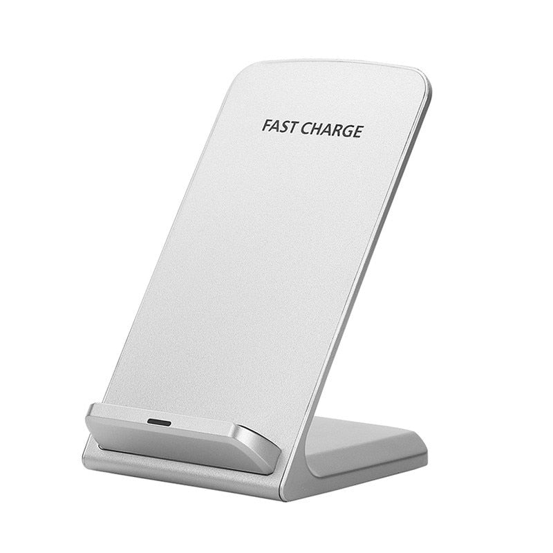 KEXU Qi 10W Wireless Charger QC 3.0 Quick Charge Stand Dock Dual Coil Phone Charger for iPhone 8