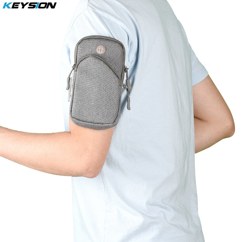 KEYSION Universal Sports Arm Band Case for iPhone X 8 8 Plus 7 6S  Multifunctional Running Fitness