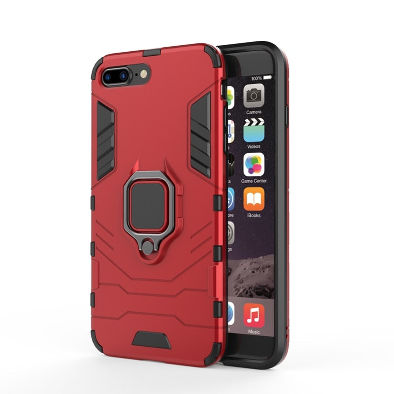 KISSCASE Shockproof Case For iPhone 6 6S 7 8 Plus XS Case For iPhone X 5 5S Se XS Xs Max XR Finger