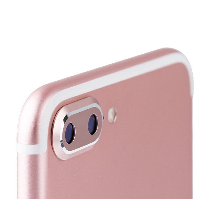 KUKOWDEE Metal Bumper Camera Protector For iPhone 6 7 8 plus Camera Screen Lens Cover For iPhone X