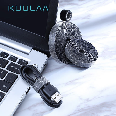 KUULAA Cable Organizer Free Length USB Cable Wire Winder for phone Earphone Holder Mouse cord