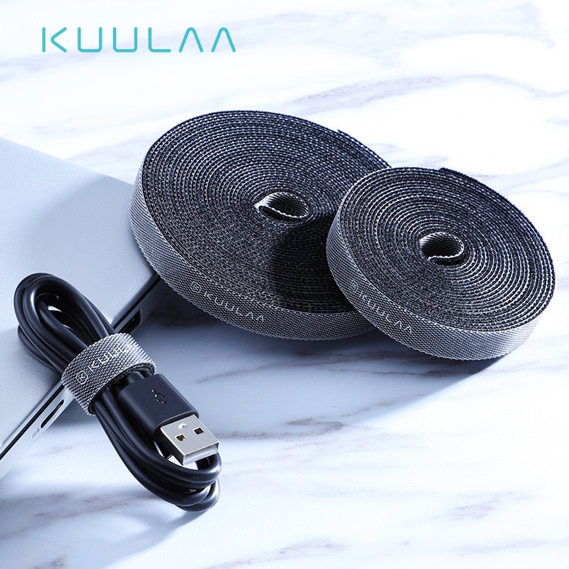 KUULAA Cable Organizer Wire Winder Clip Earphone Holder Mouse Cord Protector HDMI Cable Management
