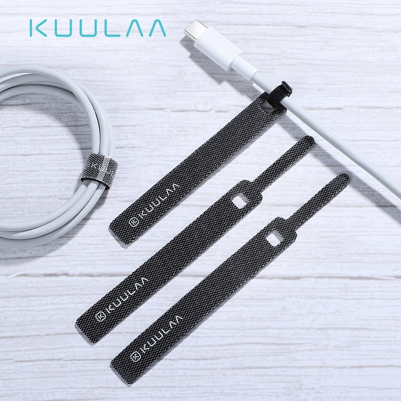 KUULAA Cable Organizer for Phone USB Cable Wire Winder Earphone Holder Mouse Cord Protector Power