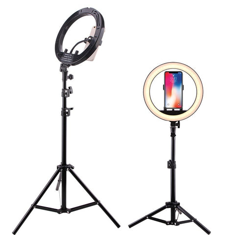 "LED Selfie Ring Light Photo Studio 10"" 15W Stepless adjusted Warm& Cold Lighting Youtube"