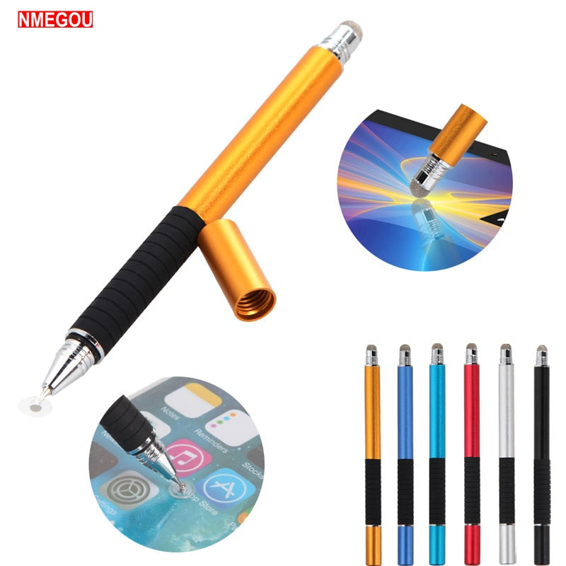 Lapiz Tactil 2 In 1 Multifunction Capacitive Stylus Touch Screen Pen for Oppo IPad IPhone Phone