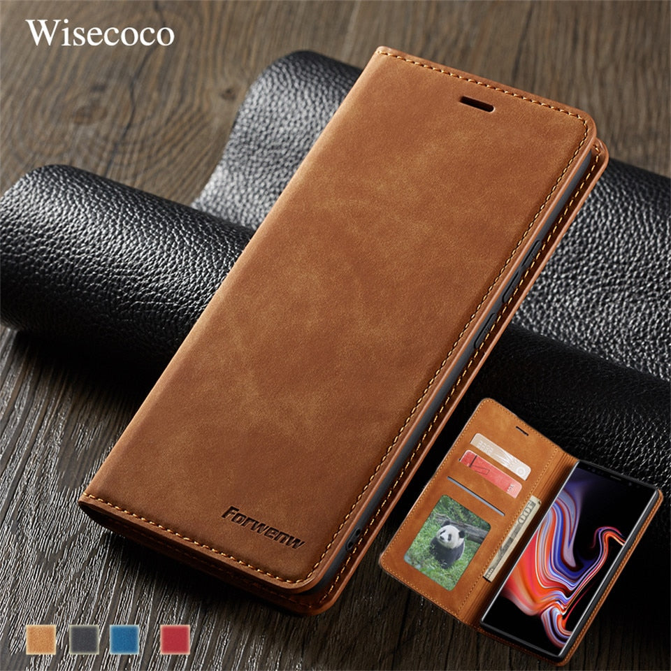 Leather Flip Case for Samsung Galaxy Note 9 S10 S9 S8 J4 J6 Plus A6 A7 A8 2018 A30 A40 A50 A60 A70