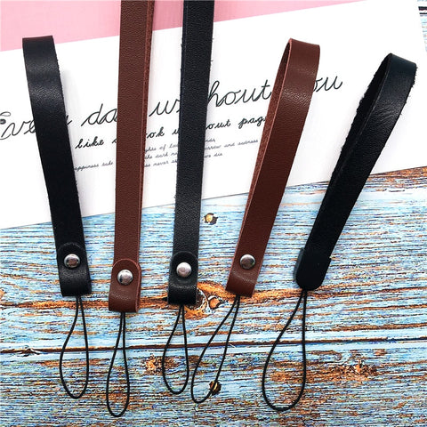 Leather Wrist Strap Hand Lanyard For Phone iPhone 7 plus 6 Samsung Camera GoPro USB Flash Drives