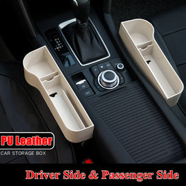 Universal Pair Passenger Driver Side Car Seat Gap Storage Box