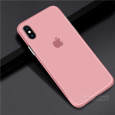 Luxury 0.3mm Ultra Thin Matte Transparent PC Phone case For iPhone 7 6 6S plus 8 Case Cover For