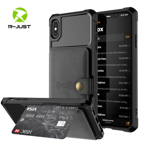 Luxury Retro PU Leather Magnetic absorption Wallet Case for iPhone X XS MAX XR 6 6s 7 8 Plus Cases