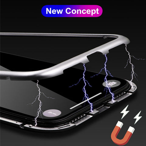 Magnetic Adsorption Metal Case For Samsung Galaxy J4 J6 J8 Plus A7 A9 A8 2018 M10 M20 M30 A70 A10