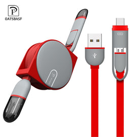 Micro USB Cable for Samsung 2 in 1 1M USB Type C Cable Fast Charger Data USB C Cable