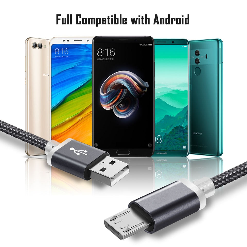 Micro USB Charging Cable 9mm Long For Oukitel K10000/K3 C12 Pro Blackview A7/A20/A30/BV6000 Bv5500