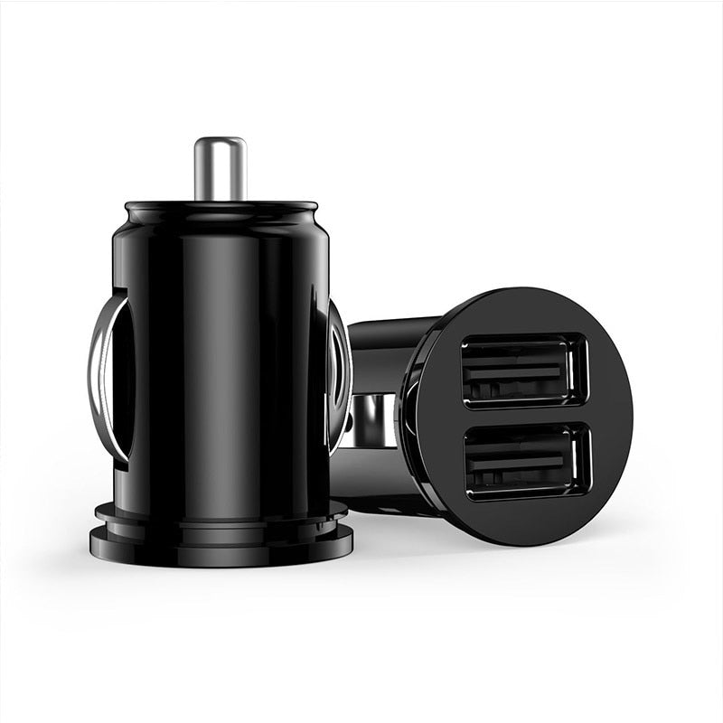 Mini USB Car Charger Dual Ports Adapter For iPhone x 7 XR XS 8 Huawei p20 lite Samsung Galaxy S8