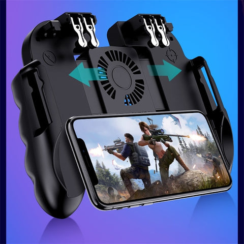 Mobile Controller Gamepad Cooler Fan For iOS Android For Samsung 6 Fingers Operation Joystick Cooler