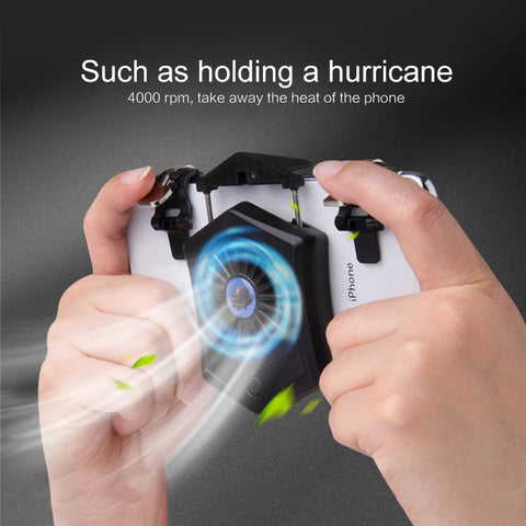 Mobile Phone Cooler Fan Holder Cooling Pad Gamepad Game Gaming Shooter Mute Radiator Controller Heat