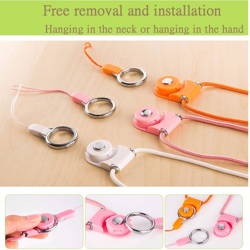 Mobile Phone Strap For iPhone XR Xs Max X 10 8 7 6 6s Samsung S9 S8 Multi-function Lanyard Neck