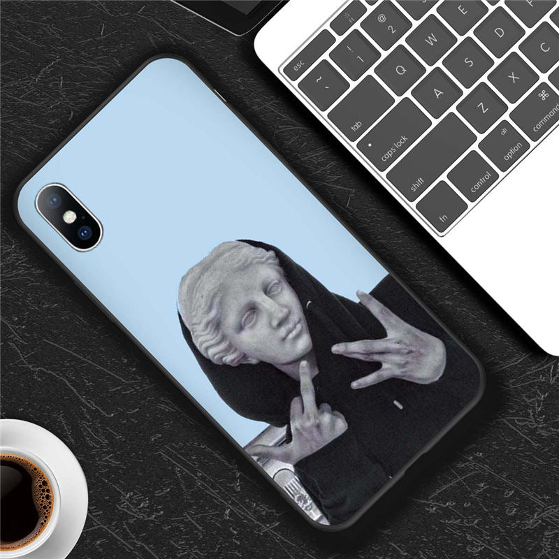 Moskado Funny Art Abstract Phone Case For iPhone X XR XS Max 7 8 6 6s Plus 5 5s SE 10 Silicone Cases
