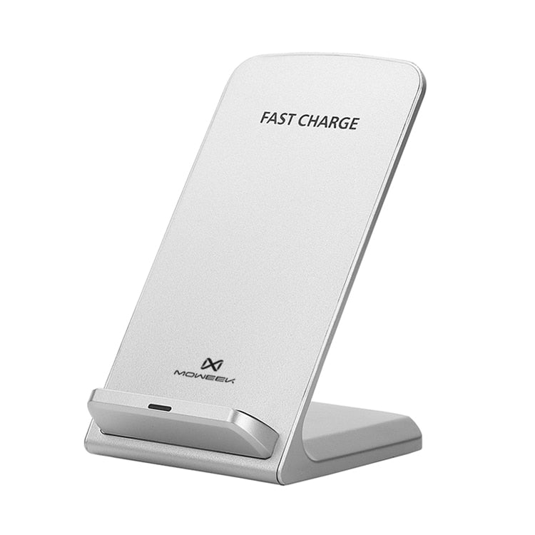 Moweek Qi Wireless Charger For iPhone XS Max XR X 8 Fast Holder stand Wireless charger For Samsung