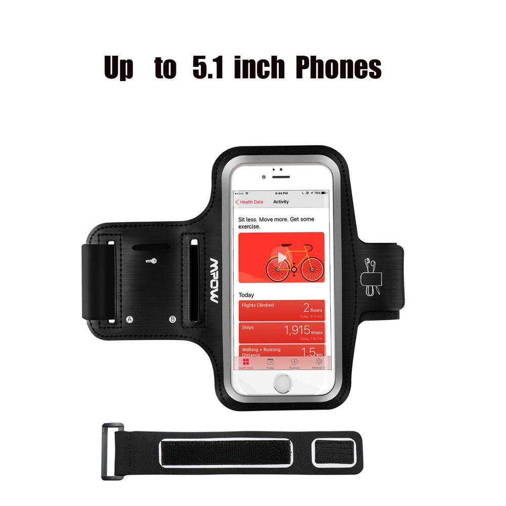 Mpow PA167 Universal Armband Belt For iPhone Xs Max Xr X 8 Huawei P20 Samsung S9 Running GYM Arm