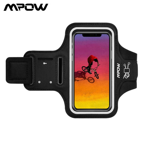 Mpow Sport Gym Armband Case For iPhone X Adjustable Running Arm Band On Hand Smartphone Cell