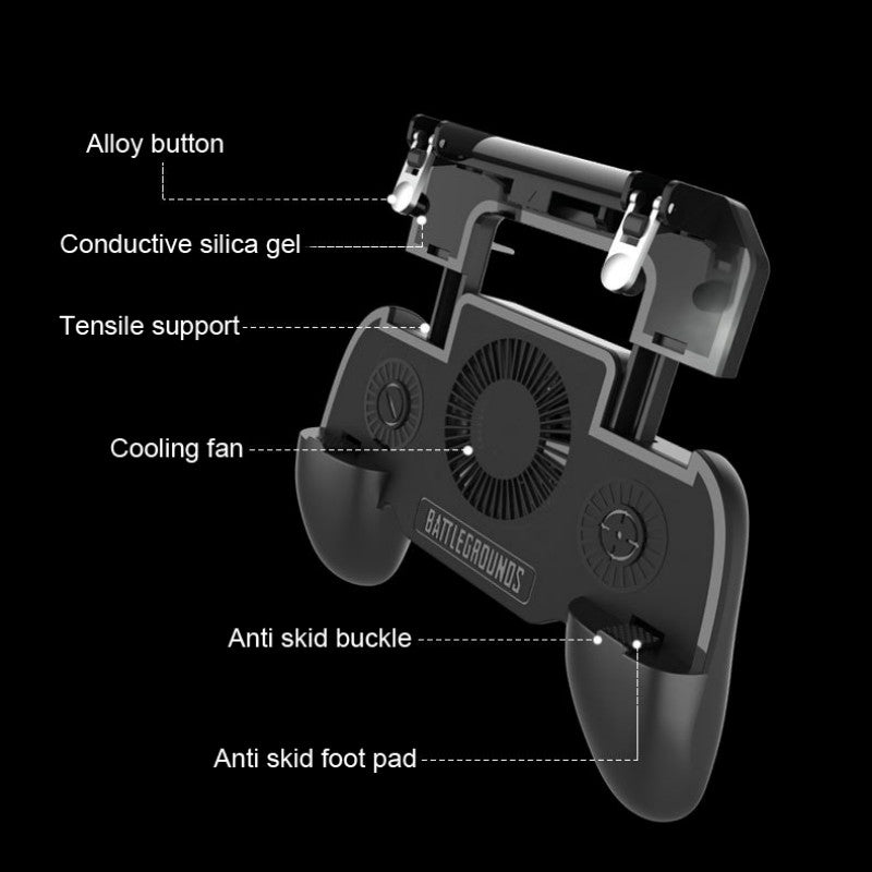 Multi-Functional Game Phone Holder For iPhone XS MAX X Samsung S10 S9 Mobile Phone Cooler Heat